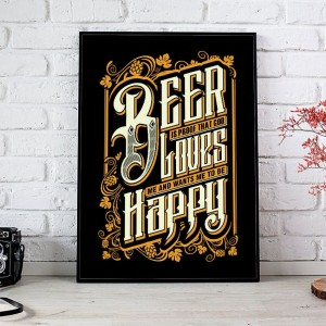 Plakat Beer Is Proof That God Loves ...