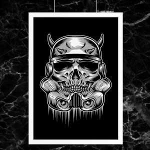 Plakat Star Wars - Skull Trooper