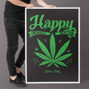 Plakat Happy Chemical Reaction Weed