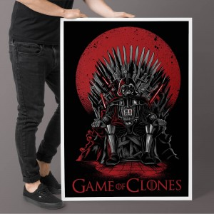 Plakat Star Wars - Game Of Clones