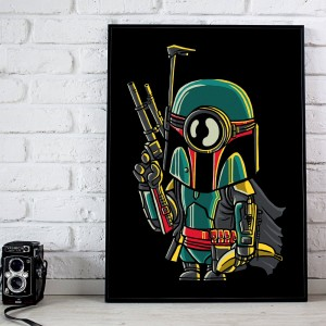 Plakat Star Wars - Minion Boba Fett