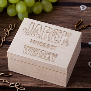 Powered By Whisky - Kamienie do whisky w personalizowanym opakowaniu
