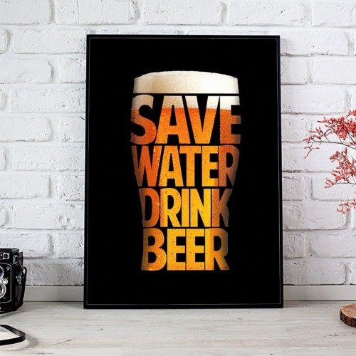 Plakat Save Water Drink Beer